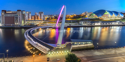 Blue Hour On The Quayside, Newcastle