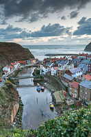 Winter Light Over Staithes
