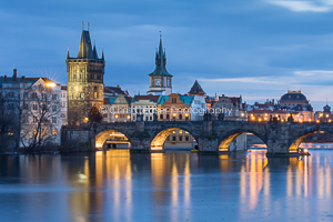 Dusk By The Tower, Prague