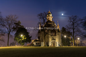 Hanavsky Pavillion By Moonlight, Prague