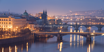 Winter Colours, Prague's Bridges