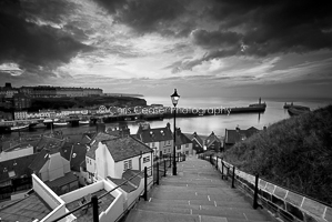 199 Steps, Whitby. Monochrome