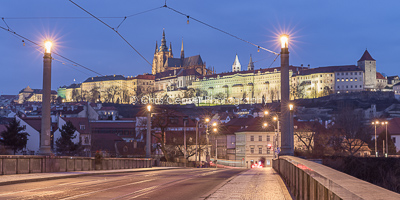 Under Prague Castle, Blue Hour