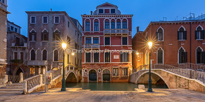 Manin Square By Lamplight, Venice