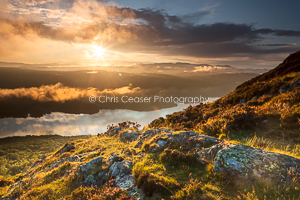 2, Summer. Above The Clouds, Windermere. 16x10.66 inch print, signed.