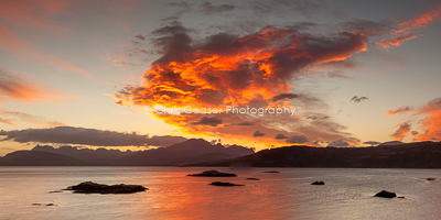 Red Cloud Over The Cuillin, Skye