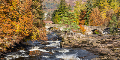 Autumn By The Falls, Killin