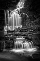 1, Spring. 'Silken Flow, Scaleber Falls'. 16x10.66 inch print, signed.