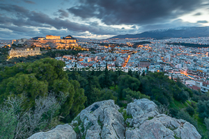4, On The Edge, Athens. 16x10.66 inch print, signed.