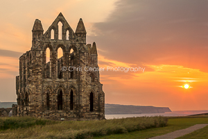 Summer Sunset, Whitby Abbey