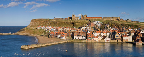 Whitby old town panorama