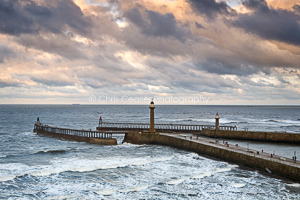 Winter Skies. West Pier, Whitby