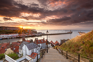 Sunburst, Whitby Steps
