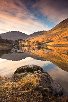 4, Waiting for the light, Buttermere. 16x10.66 inch print, signed.