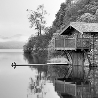 The Boathouse, monochrome