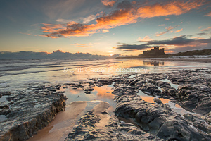 Red Sky At Dawn, Bamburgh