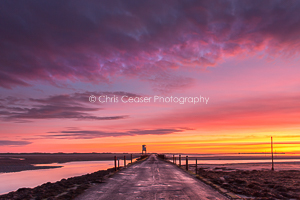4, Rainbow Dawn, Holy Island. 16x10.66 inch print, signed.
