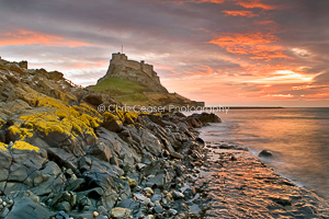 Sunrise at high tide, Holy Island