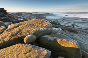 Misty Dawn, Stanage Edge