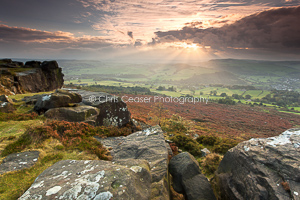 Sunset On Baslow Edge