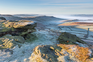Frosted Pathway, Stanage Edge