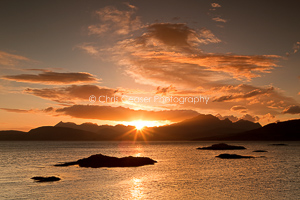Golden Skies Over The Cuillin